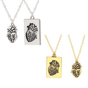2Pcs Fashion Gift Necklace Jewelry Letter Heart Charm Necklace