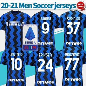 NCAA 20-21 Inter home Soccer Jersey #9 LUKAKU #24 ERIKSEN 2020 Men blue Soccer shirt #10 LAUTARO #37 SKRINIAR Football uniforms Customized s