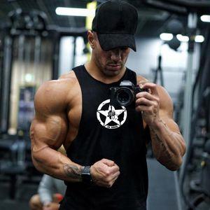 Muscle Gym guerreiros Homens Musculação alças Stringer Vest fittness shirt Roupa Homens de algodão Regatas roupas de verão