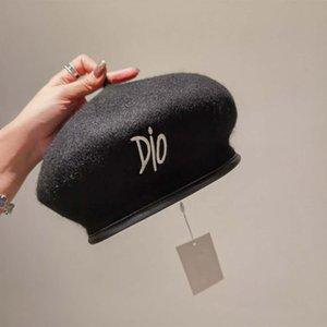 Горячие высокое качество Haute Couture Newsboy Hats Berets зимняя осень модные шапки Британский стиль девушки Earts художник художник крышка теплая шляпа