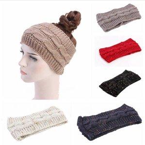 Örme Tığ Kafa Kadınlar Kış Sporları Hairband Turban Yoga Kafa Bandı Kulaklık Cap Örgü Bantlar Parti Favor Hediye LJJP768