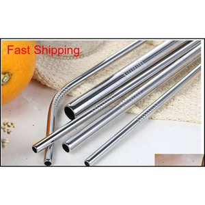 In Drinking Stock! Bar QylVJG Straw Straight Bend Metal For Straws Reusable Kitchen Hotclipper Beer Frui Family Eco-friendly Dwmhn