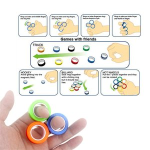 Hot 3pcs set Relief Anti-stress Fingears Stress Reliver Finger Ring Fidget Spinner Toys Magnetic Rings for Adults Kids Gifts