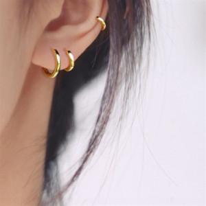 MHBF3 Sur Corea del Sur Paisaje fresco Pequeños Pendientes de plata de ley 925 Pendientes de plata esterlina Femenina Simple Versátil Ear Stud Stud Pendientes Pendientes