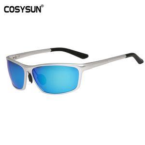 Солнцезащитные очки Cosysun Rim Polarized Ritless Mens 'Goggle Men Full Goggle Поляризованные вождения Oculos Солнцезащитные очки 2179L Алюминиевый мужской цлак
