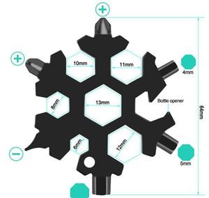 Openers Hex 18 Pocket Keyring Hot Key Dhl Survive Ring Multipurposer Snowflake Multi Multifunction Tool Outdoor 1 Spanne Camp Hike AHF2360