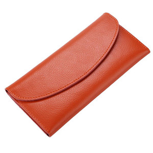 Multifunction Leather Long Wallet Women Solid Color Simply Large Capacity Phone Pocket Wallets Card Holders Leather Coin Purse VT1592 T03