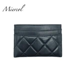Titulares de cartão MierCol Classic Genuine Leather Couro Mulheres Mini Carteira Saco