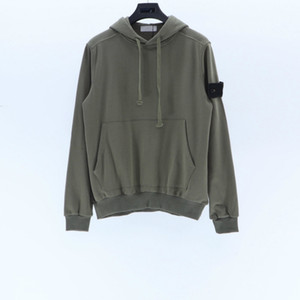 Topstoney 21ss Maglione sportivo Sportwear Fashion Streetwear Girwneck Felpa Felpa Lunga T Shirt Semplice Solid Felpa Felpa Pullover moda