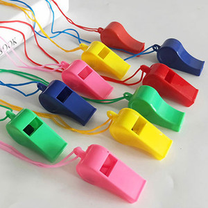 New Colorful plastic Referee Whistle Noise maker for soccer basketball sport game Cheerleading Whistles Free Shipping