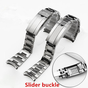 Brand 20mm Brushed Polish Silver Stainless steel Watch Bands For RX Submarine Role strap Sub-mariner Wristband Bracelet1