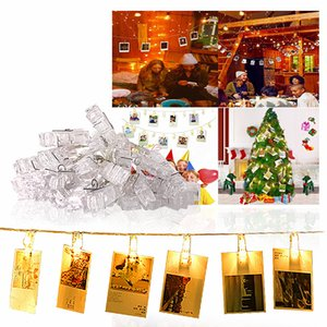 10m 100 LED Fairy Lights Battery Photo Clip Copper Wire String Lights USB Garland LED Lamp Wedding Christmas Outdoor Decorative