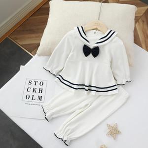 2020 Autumn Infant Long-sleeve Suit Small CHILDREN'S hai jun qun Set Cotton Baby Girls Two-Piece