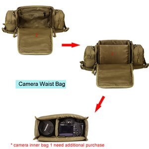 Molle Military Waist Bags Cameras Bag Fanny Pack Belt Tactics Large Shouder Assault Camping Pack Outdoor Sports Camera XA573WA