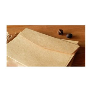 Commercio all'ingrosso- 100pcs 16x11cm Retro Kraft FAI DA TE Busta multifunzione / Buste regalo per nozze / Carta Kraft Weddin Jlljua XMH_Home