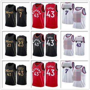 Мужчины NCAA KYLE 7 LOWRY PASCAL Джерси 43 Siakam Fred 23 Ванвлеет Баскетбол Джерси Сартичен Трейси 1 McGrady Vince 15 Carter Ретро рубашка