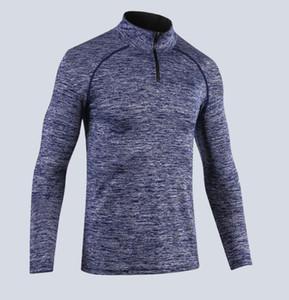 M-XXL En tee spor Erkek spor spor jogger eğitim çalıştıran ter Hızlı kuruyan uzun kollu tişört Casual sıkı streç