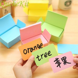 Double sided empty greeting card \ \ 124; 100 pieces   box, message card, paper storage stationery, children's learning card, decoration