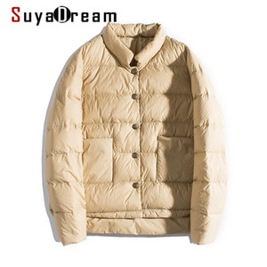 SUYADREAM Femme Down Down Hiver Joke Hiver Qulited Stable Stand Collier Womens Parka Y201026