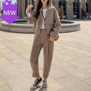 Ladies Business Suit Female Korean Fashion Blazer + Suits Pant
