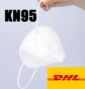 DHL-frei K95% Einweg-5-Layer-Versand K95% Maske-Atemschutz-Ventil-Staub mit Maske Gesichtspaket Individuell weiß MRFBW