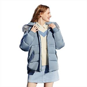 SEMIR Hair collar down jacket women 2020 winter hat detachable loose hooded girl jacket thicken comfortable warm down coat woman