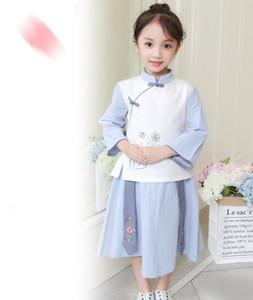 2019 Nuevos trajes de baile chinos tradicionales Vestidos diarios para niños antigua dinastía de hadas Hanfu Vestido Cosplay infantil