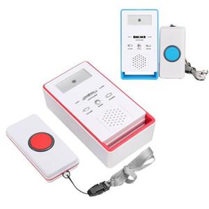SOS inalámbrico marcador de emergencia del sistema de alarma Kits de edad avanzada Ayuda Pager seguridad en el hogar de Bell Botón de pánico Dispositivo para discapacitados Calling