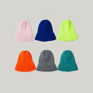 lana de tejer sombrero ocasional de la mujer versátil invierno dulce y encantadora sombrero caliente calle al aire libre cortavientos sombrero masculino 11 colores T3I51252