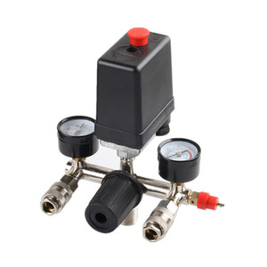 220V Regulator Duty Air Compressor Pump Pressure Control Switch Air Pump Control Valve 90-125PSI With Gauge