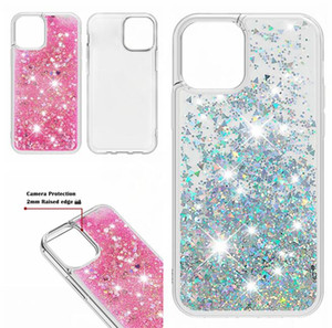 Liquid Bling Soft TPU Case For Iphone 12 11 Pro Max X XS XR SE 2020 SE2 7 Plus 8 6 6S Quicksand Glitter Shiny Heart Love Phone Cover Luxury