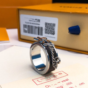 Stempel Luxurys Schmuck Designer Ketten Ring für Frauen Mann Hochzeitsfeierliebhaber Geschenk Feiertagsschmuck mit Box
