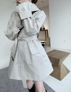 Stand Collar Hooded Fashion Trench Coat (With Belt)