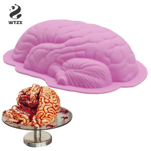 Brain Shape Silicone Cake Mold DIY Cookie Desserts Baking Mold Chocolate Decor Mold Kitchen Tool