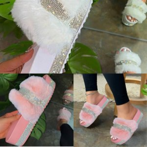 5mk2g mulheres rebites chinelos slides de verão toe sapatos abertos planos glitter flat chinelo efêmero plus calçado preto branco alta qualidade