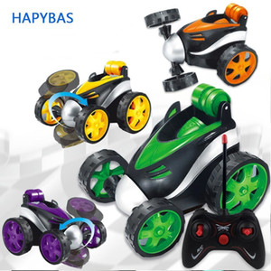Micro Stunt Dancing Rc Car Tumbling Electric Controlled Plastic Mini Car Funny Rolling Rotating Wheel Vehicle Toys Rc Kid LJ200919