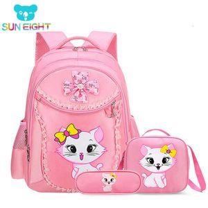 Princesa Cat bolsas para niñas historieta del niño Escuela de Niños Mochila Mochilas Escolares Infanti J190614