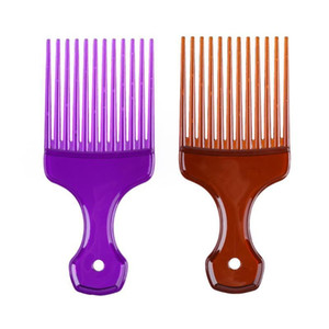 Wide Teeth Afro Hair Fork Comb Unisex Hair Style Curly Massage Hairdressing Comb Brush Hair Styling Tool tsetWEH topscissors