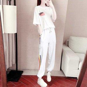 Tyjtjy двухкусочный Женская мода лето 2020 Сыпучие Темперамент Повседневная одежда женщин спортивный костюм
