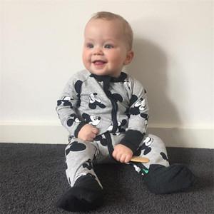 Wasailong neonato neonato vestiti infantile pagliaccetto manica lunga stampa floreale stampa bambina rompers tuta pigiama abbigliamento bambino 201028