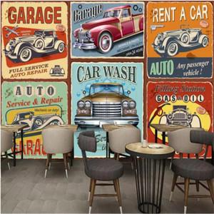 Обои на заказ народные обои 3D старинные европейские классические автомобили Po Bar кафе гостиная спальня настенные бумаги домашнего декора