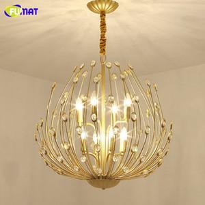 FUMAT Modern Gold Crystal Chandelier Lighting For Living Room Bedroom Kitchen Luxury Lustre Ceiling Chandeliers Light Fixtures