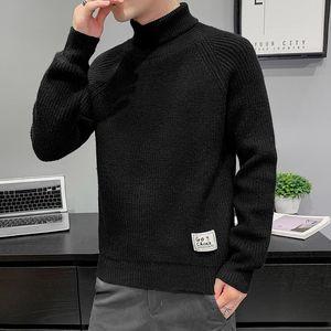 Men's Winter Keep Warm Sweater Turtelneck High Neck Youth Fashion Knitwear Top 2021 New
