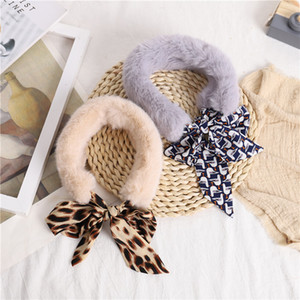 2020 New Fashion Soft Women Faux Fur Collar Scarf Plush Collar Neck Warmer Winter Shawl Wrap Girls Neckchief Plush ribbon scarf Baby Product