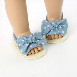 2020 Toddler infantil bebê verão sandálias listradas ponto impressão bowknot princesa soft bottom shoes 0 6m 6 12m 12 18m crianças shors sneakers em d1st #