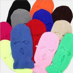 Gesichtsmaske winddichte Outdoor-Masken taktische Reiten Kopfbedeckung Atmungsaktive Balaclava Winter warm Skihut volle Gesichtsmasken 3-Loch Kopfbedeckung PPC4666
