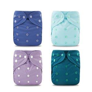 Elinfant 1 Pcs Taille réglable Couches Lavables Couverture avec Recyclable et lavage réutilisable Un Taille Diapers Fit 3 ~ 15 kg couches pour bébés 201020