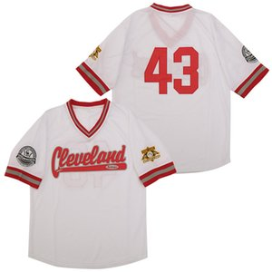 Negro Leagues Cleveland Cubs Buttondown Baseball Jersey 43 Team Color White Cool Base Breathable Pure Cotton All Stitched Top Quality