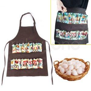 Tasche Egg Raccolta raccolto Grembiule Chicken Farm lavoro Grembiuli Carry Anatra Oca Egg Farm Raccolta grembiule da cucina grembiule RRA3654