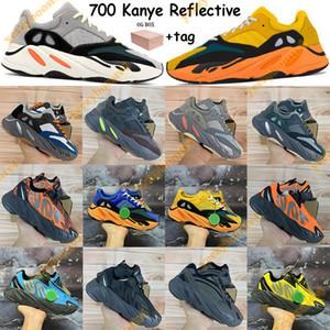 2019 Tephra Vanta Kanye Oeste 700 Corredor de Onda Estática Inércia Mauve Cinza Sólida Reflexivo Correndo Sapatos Das Mulheres Dos Homens Tênis de grife